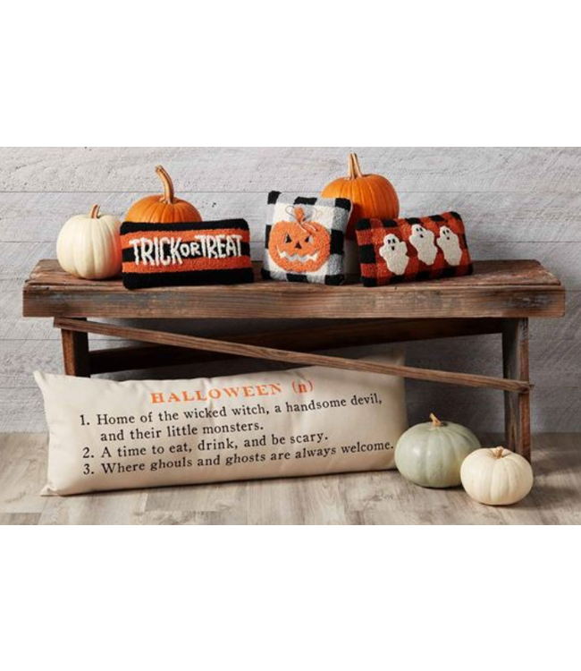 Mud Pie Halloween Definition Pillow