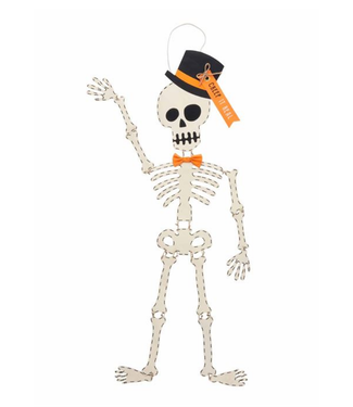 Mud Pie Skeleton Top Hat Door Hanger