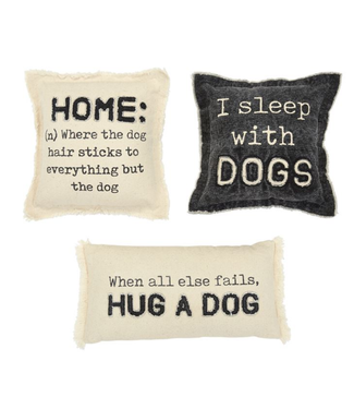 Mud Pie Washed Canvas Dog Pillows
