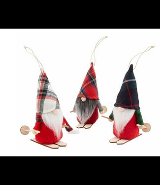 Mud Pie Skiing Gnome Ornaments