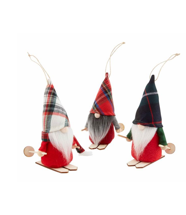 Mud Pie Skiing Gnome Ornaments