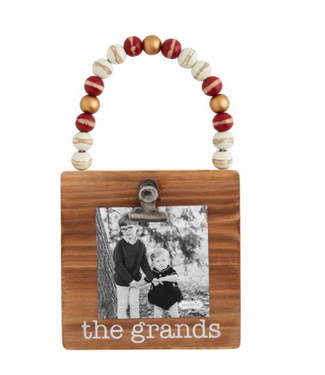 Mud Pie Grands Wood Frame Ornament