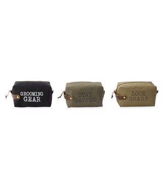 Mud Pie Sentiment Canvas Dopp Kits
