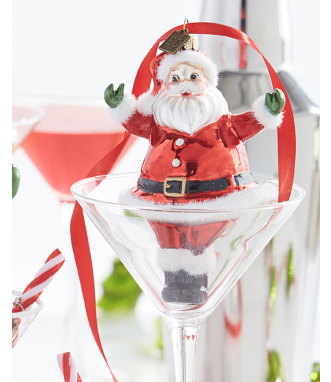 "EC 4.75"" Retro Santa Ornament"