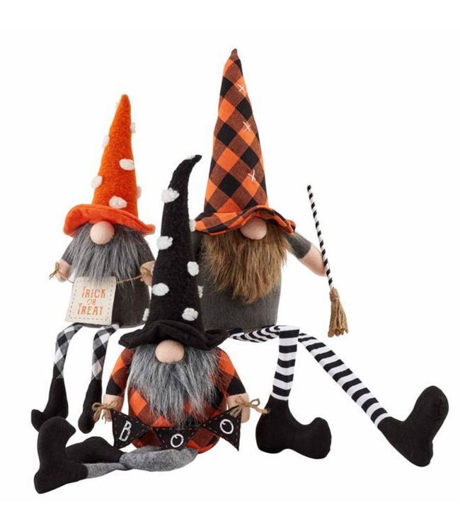 Mud Pie Dangle Leg Halloween Witch Gnomes