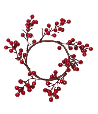 Red Berry Candle Ring