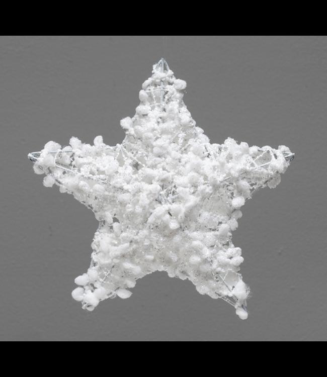 "White Puff Star Ornament 8"""