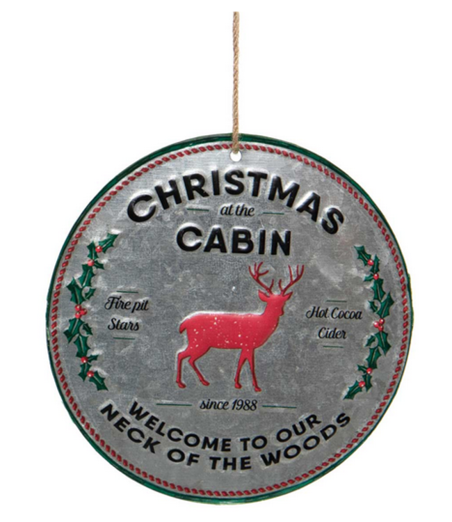 "6.25"" Christmas Cabin Ornament"