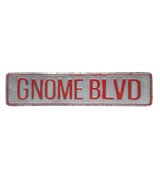 "17"" Gnome Blvd Sign"
