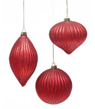 Glass Regal Red Ornament