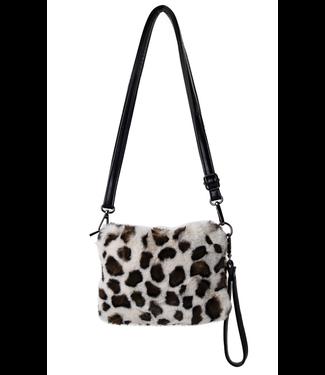 Faux Leopard Shoulder Bag