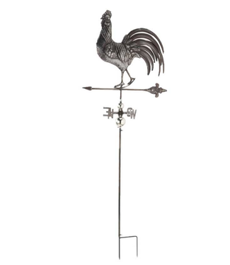 68 Inch Metal Rooster Weathervane Stake