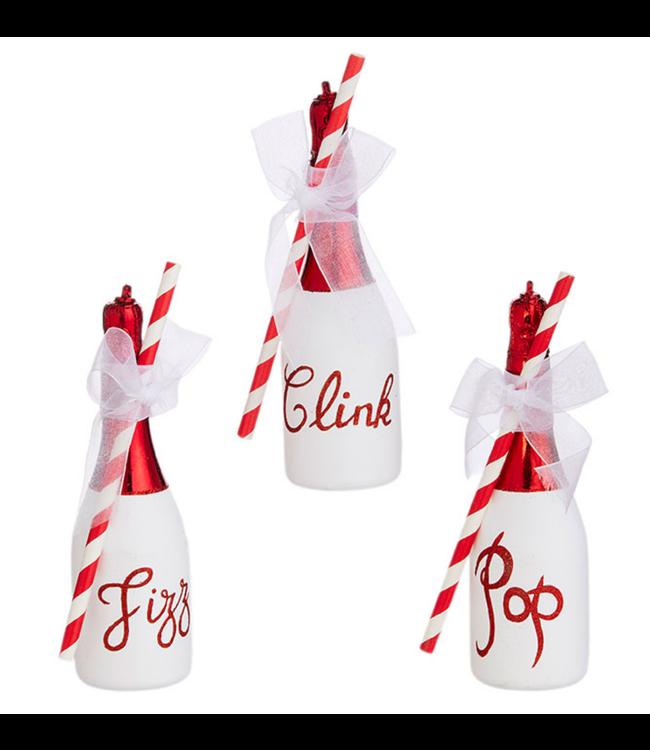 "6.5"" Pop Clink Fizz Bottle Ornament"
