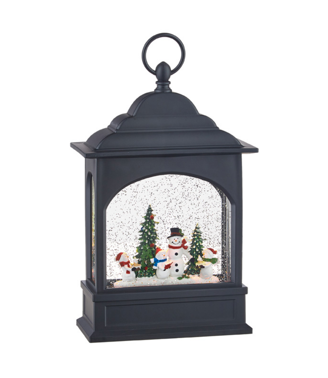 "11"" Snowman Caroler Family Lighted Water Lantern"