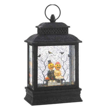 "10.5"" Pumpkin Couple Lighted Water Lantern"