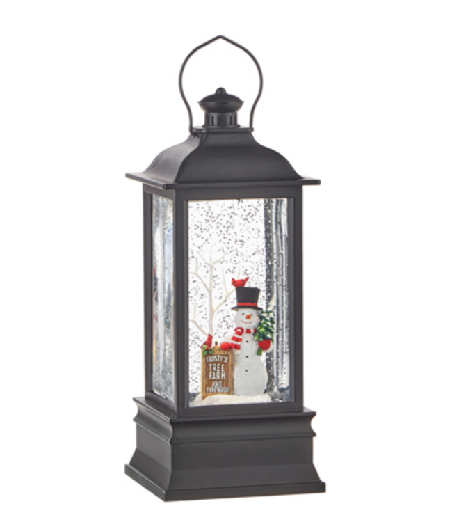 "8.75"" Frosty's Tree Farm Muscial Lighted Water Lantern"