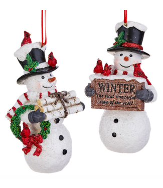"5"" Snowman Ornament"