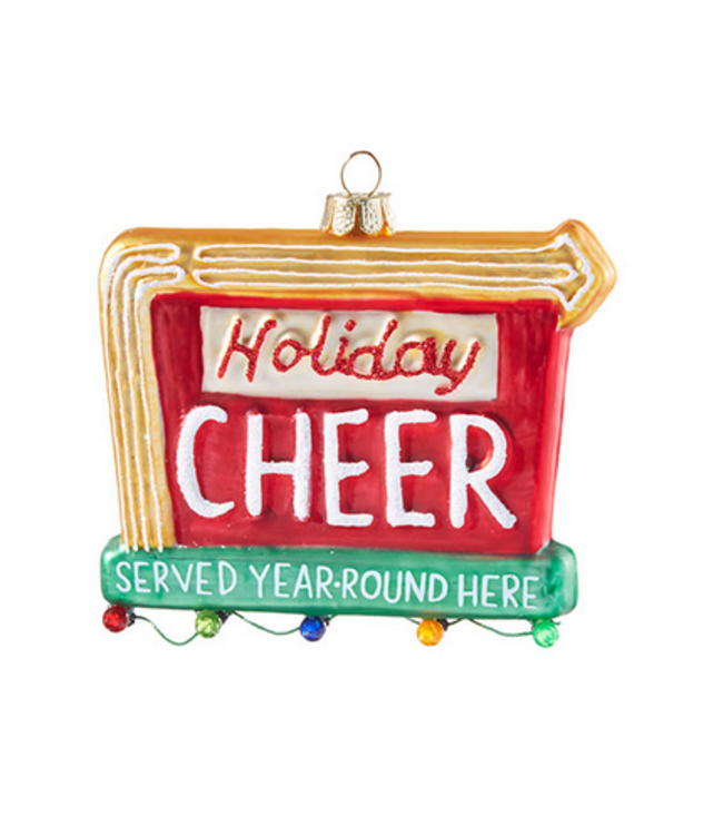 """4"""" Holiday Cheer Sign Ornament"""
