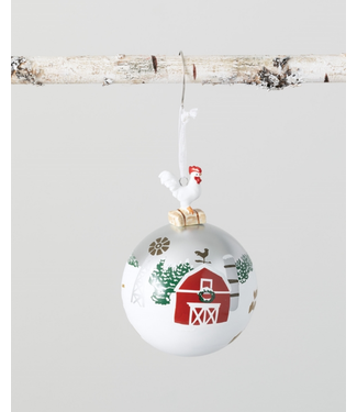 Sullivans Rooster Ball Ornament