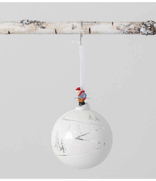 Sullivans Skier Ball Ornament