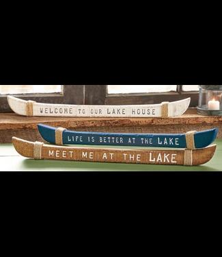 Mud Pie Wood Canoe Sentiment Sticks