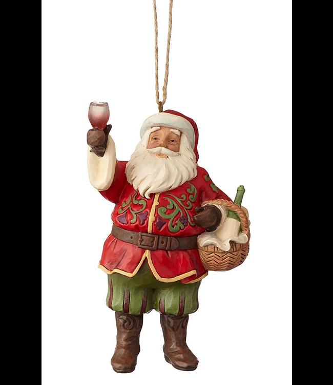 Wine Santa Hanging Orn Jim Shore