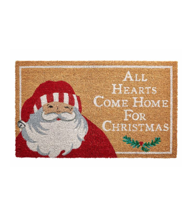 Mud Pie Winking Santa Door Mat