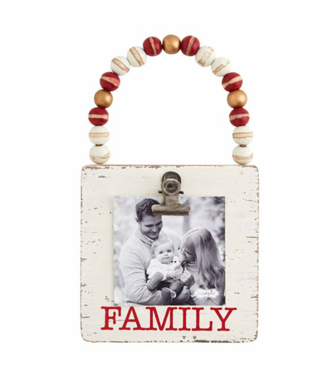 Mud Pie Family Wood Frame Ornament