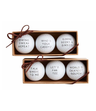 Mud Pie Golf Ball Set