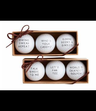 Mud Pie Golf Ball Set