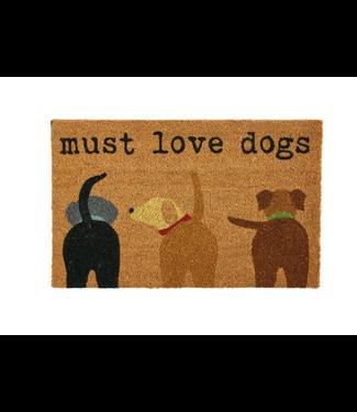 Mud Pie Must Love Dogs Door Mat