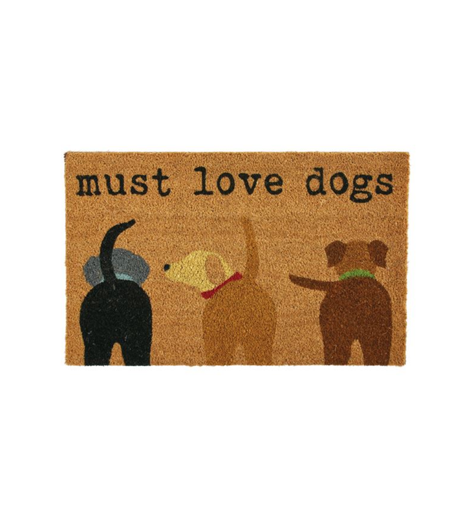 Mud Pie Must Love Dogs Door Mat