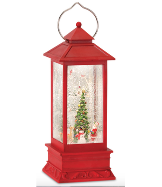 Snow Globe Lantern w/ Santa