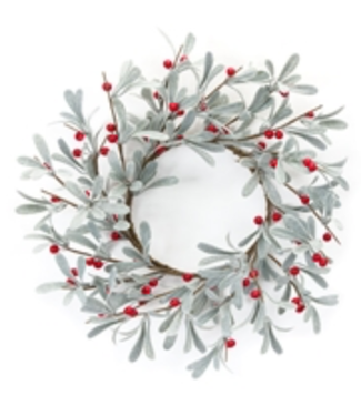 Mistletoe wreath 13""