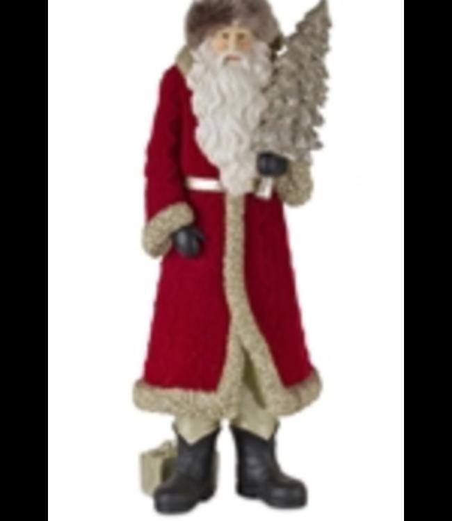 """Santa w/ tree 18"""""""
