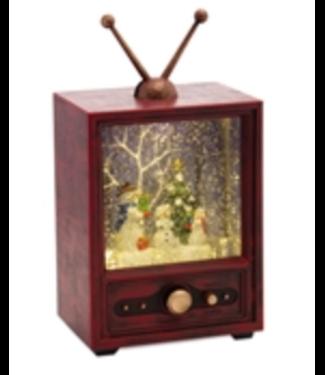 Snowman television snow globe