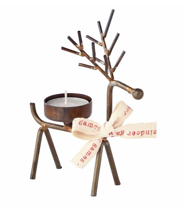 Mud Pie Reindeer Tea Light Holder