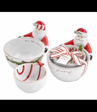 Mud Pie Santa Nested Dip Bowl Sets