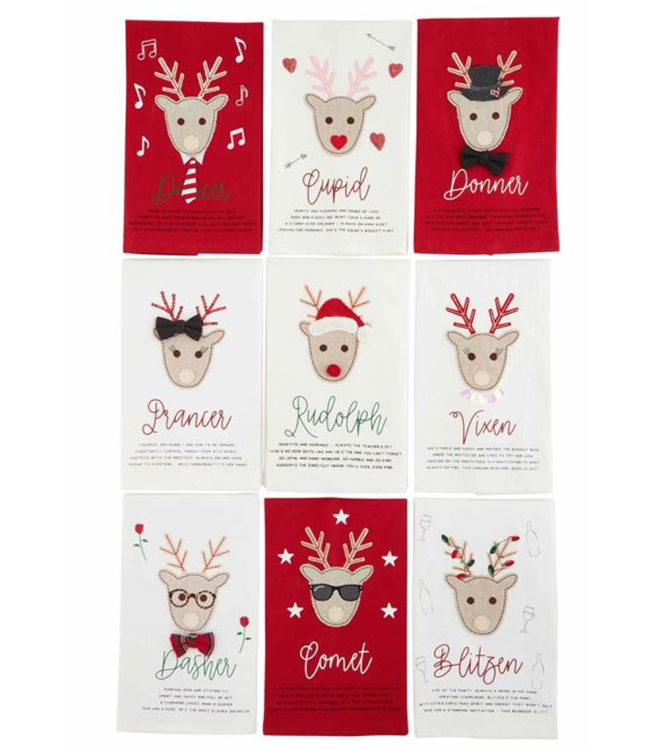 Mud Pie Reindeer Towels