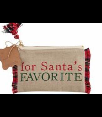 Mud Pie Santa Favorite Gift Pouch