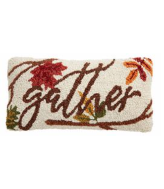 Mud Pie Gather Mini Hook Pillow Gather Leaves