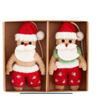 Mud Pie Santa Boxed Sea Ornament Set