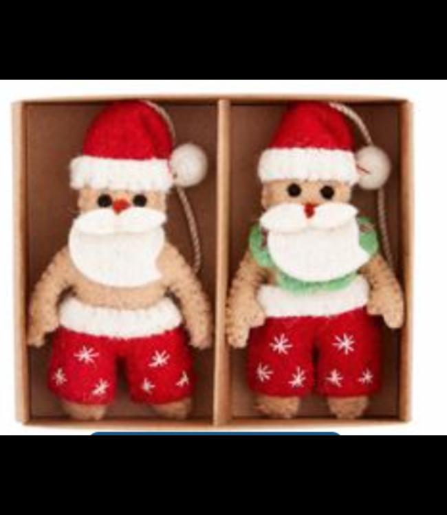 Mud Pie Santa Boxed Sea Ornament Set