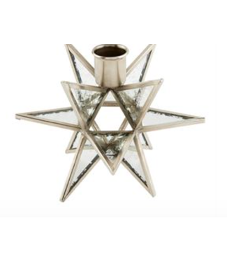 Mud Pie Silver Star Candle Holder