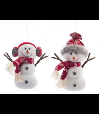 "Snowman Ornament 7.75"""