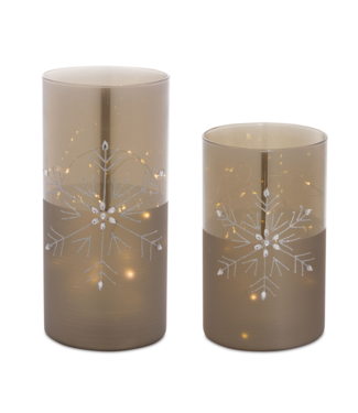 LED Snowfake Luminary with 6 Hr Timer