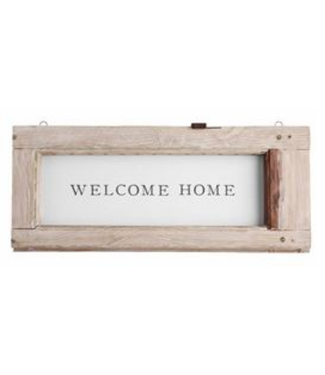Weathered Welcome Plaque