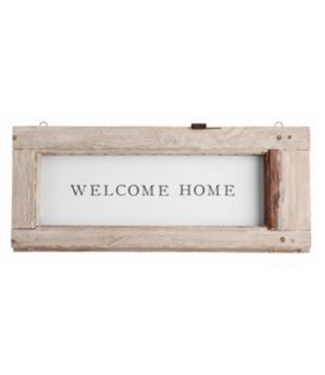 Mud Pie Weathered Welcome Plaque