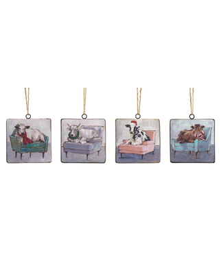 Cow and Chair Ornaments