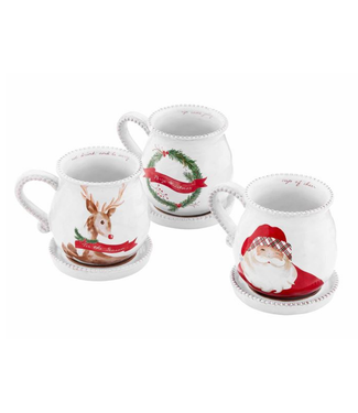 Mud Pie Christmas Tea Mug